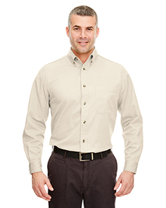 Natural Adult Cypress Long-Sleeve Twill with Pocket