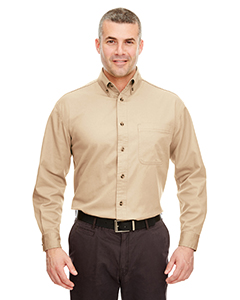 Khaki Adult Cypress Long-Sleeve Twill with Pocket