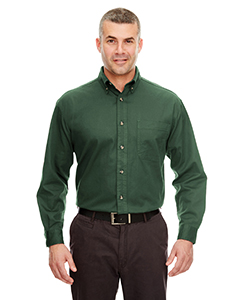 Forest Green Adult Cypress Long-Sleeve Twill with Pocket