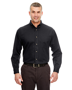 Black Adult Cypress Long-Sleeve Twill with Pocket