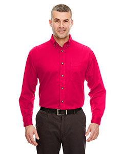 Red Adult Cypress Long-Sleeve Twill with Pocket
