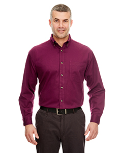 Burgundy Adult Cypress Long-Sleeve Twill with Pocket