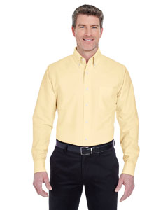 Butter Men's Classic Wrinkle-Resistant Long-Sleeve Oxford