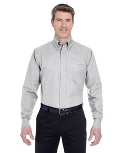 Charcoal Men's Classic Wrinkle-Resistant Long-Sleeve Oxford