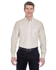Tan Men's Classic Wrinkle-Resistant Long-Sleeve Oxford