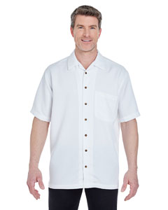 White Men's Cabana Breeze Camp Shirt