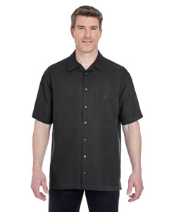 Black Men's Cabana Breeze Camp Shirt