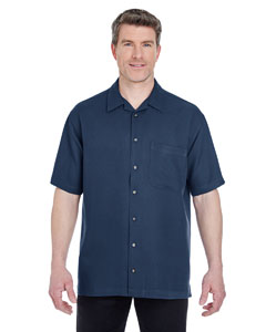 Navy Men's Cabana Breeze Camp Shirt