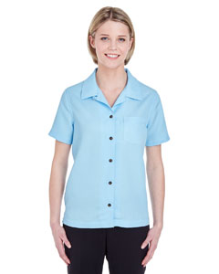 Island Blue Ladies' Cabana Breeze Camp Shirt