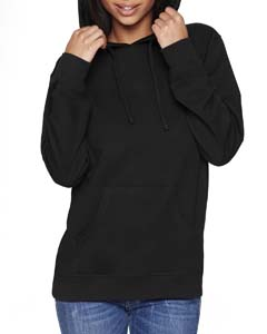 Black/black Unisex French Terry Pullover Hoodie