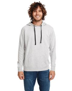 Hthr Gry/black Unisex French Terry Pullover Hoodie