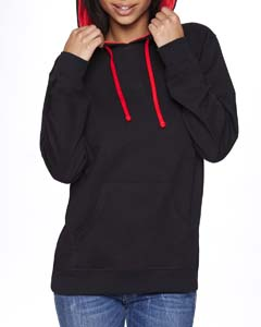 Black/red Unisex French Terry Pullover Hoodie