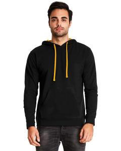 Black/ Gold Unisex French Terry Pullover Hoodie