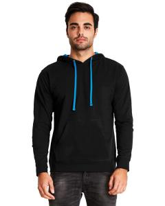 Black/ Turquoise Unisex French Terry Pullover Hoodie