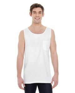 White Adult Heavyweight RS Pocket Tank