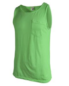 Neon Green Adult Heavyweight RS Pocket Tank
