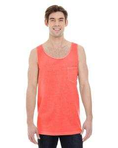 Neon Red Orange Adult Heavyweight RS Pocket Tank