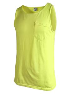 Neon Yellow Adult Heavyweight RS Pocket Tank