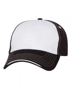 White/ Black Tri-Color Cap