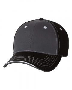 Charcoal/ Black Tri-Color Cap