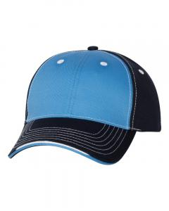 Light Blue/ Navy Tri-Color Cap