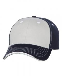 Grey/ Navy Tri-Color Cap