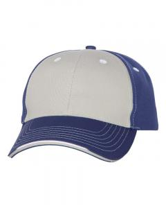 Grey/ Royal Tri-Color Cap