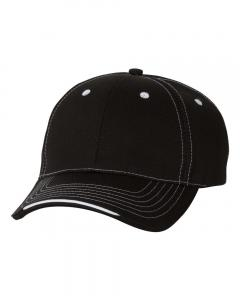 Black Tri-Color Cap