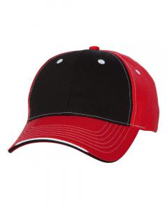 Black/ Red Tri-Color Cap