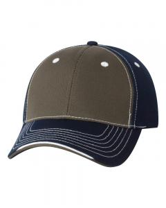 Olive/ Navy Tri-Color Cap