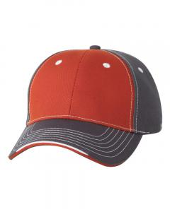 Orange/ Charcoal Tri-Color Cap