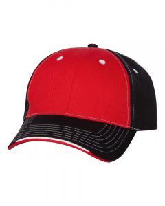 Red/ Black Tri-Color Cap