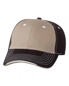 Khaki/ Black Tri-Color Cap