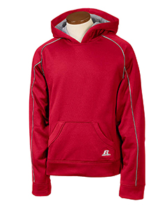 True Red/steel Youth Tech Fleece Pullover Hood