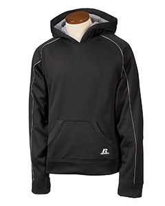 Black/steel Youth Tech Fleece Pullover Hood