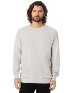 Light Grey Unisex 6.5 oz. Champ Washed French Terry Crewneck Sweatshirt
