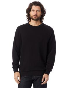 Black Unisex 6.5 oz. Champ Washed French Terry Crewneck Sweatshirt