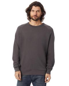Dark Grey Unisex 6.5 oz. Champ Washed French Terry Crewneck Sweatshirt
