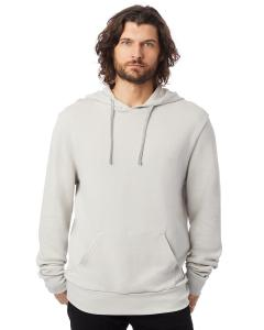 Light Grey Unisex 6.5 oz., Challenger Washed French Terry Hooded Pullover Sweatshirt