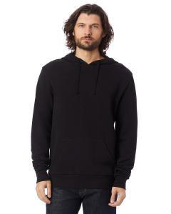 Black Unisex 6.5 oz., Challenger Washed French Terry Hooded Pullover Sweatshirt