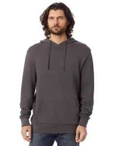 Dark Grey Unisex 6.5 oz., Challenger Washed French Terry Hooded Pullover Sweatshirt