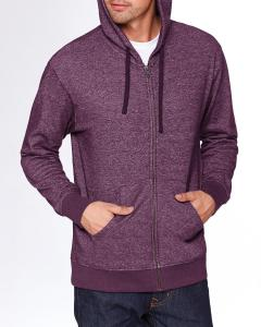 Plum Unisex Denim Fleece Full-Zip Hoodie