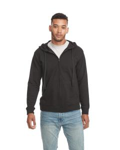 Black/ Black Adult French Terry Zip Hoody
