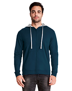 Mid Nvy/ Hth Gry Adult French Terry Zip Hoody