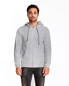 Hth Gry/ Hth Gry Adult French Terry Zip Hoody