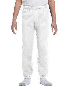 White Youth 8 oz. NuBlend® Fleece Sweatpants