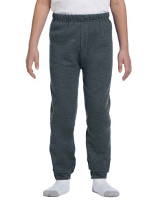 Black Heather Youth 8 oz. NuBlend® Fleece Sweatpants