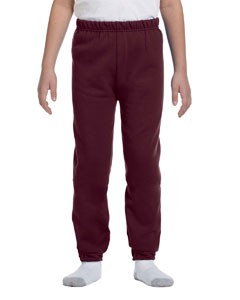 Maroon Youth 8 oz. NuBlend® Fleece Sweatpants