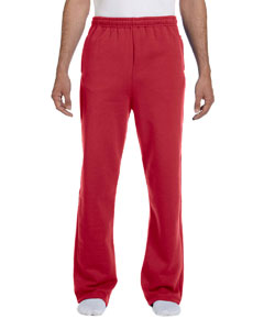 True Red 8 oz., 50/50 NuBlend® Open-Bottom Sweatpants