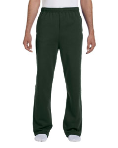 Forest Green 8 oz., 50/50 NuBlend® Open-Bottom Sweatpants